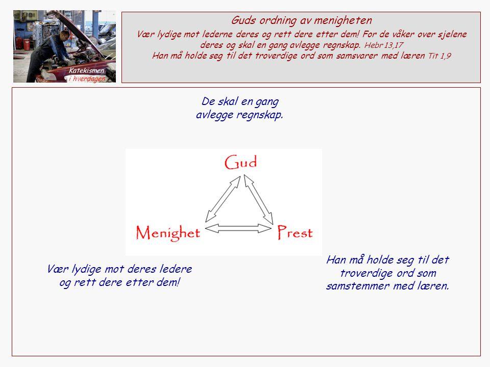 Guds ordning av menigheten Vær lydige mot lederne deres og rett dere etter dem.