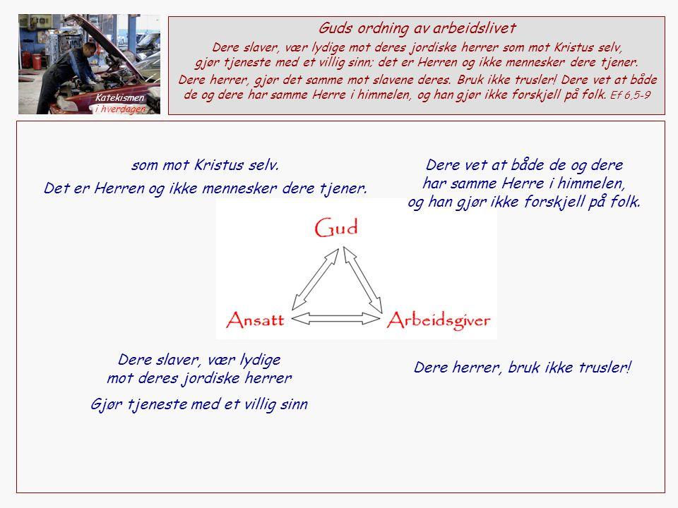 Dere slaver, vær lydige mot deres jordiske herrer som mot Kristus selv.