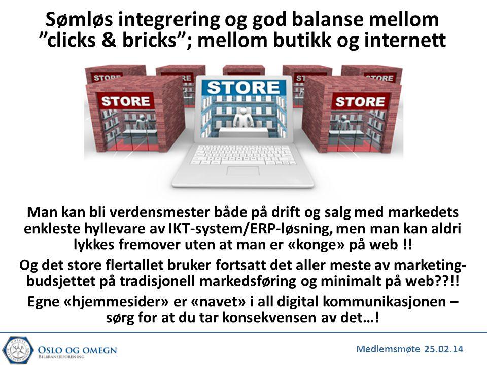 Medlemsmøte 25.02.14 Man kan bli verdensmester både på drift og salg med markedets enkleste hyllevare av IKT-system/ERP-løsning, men man kan aldri lyk