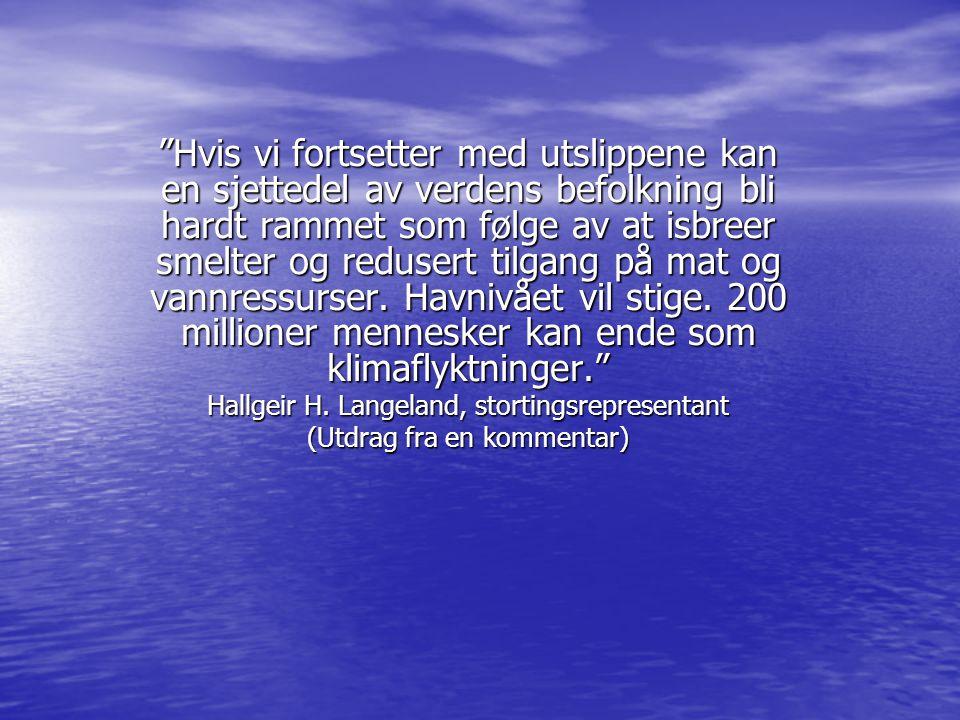 Hva skjer med Norge om Grønlandsisen smelter.