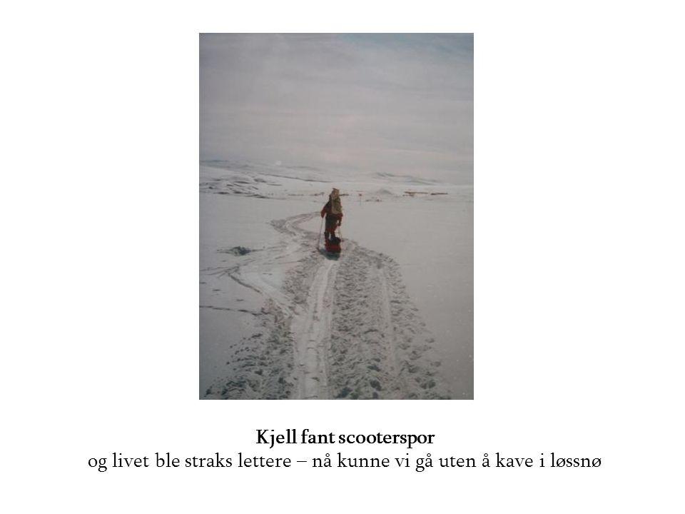 Kjell fant scooterspor og livet ble straks lettere – nå kunne vi gå uten å kave i løssnø