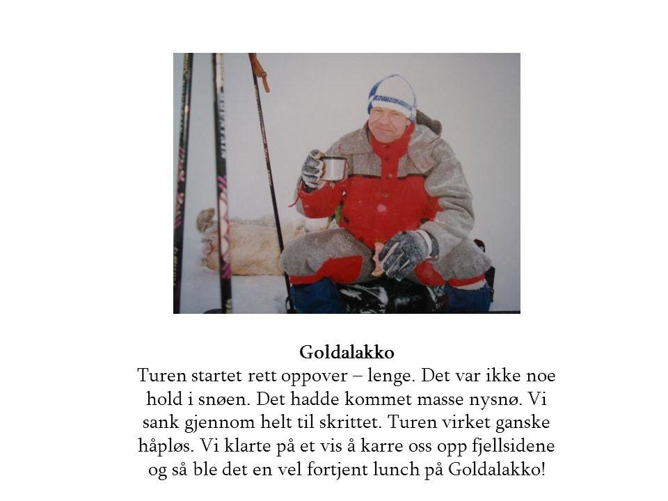 Goldalakko Turen startet rett oppover – lenge. Det var ikke noe hold i snøen.