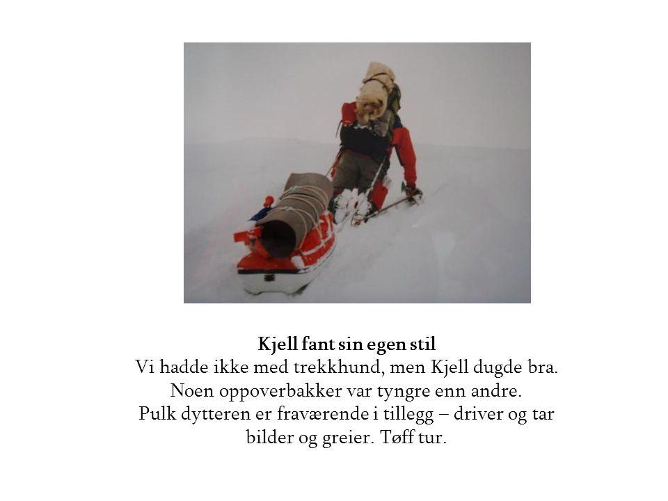 Kjell fant sin egen stil Vi hadde ikke med trekkhund, men Kjell dugde bra.