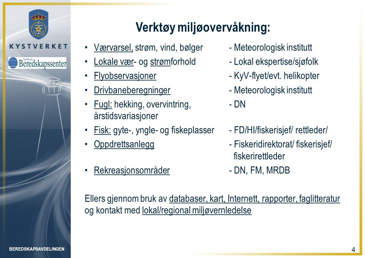 BEREDSKAPSAVDELINGEN 5 Kystinfo kartløsning – MRDB A - C juli www.kystverket.no www.kystverket.no