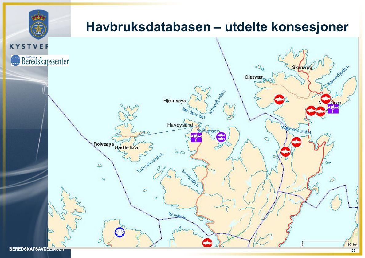BEREDSKAPSAVDELINGEN 17 Forvitringsmodell for SERVER IF 180-olje. 10 grader, 15 m/s