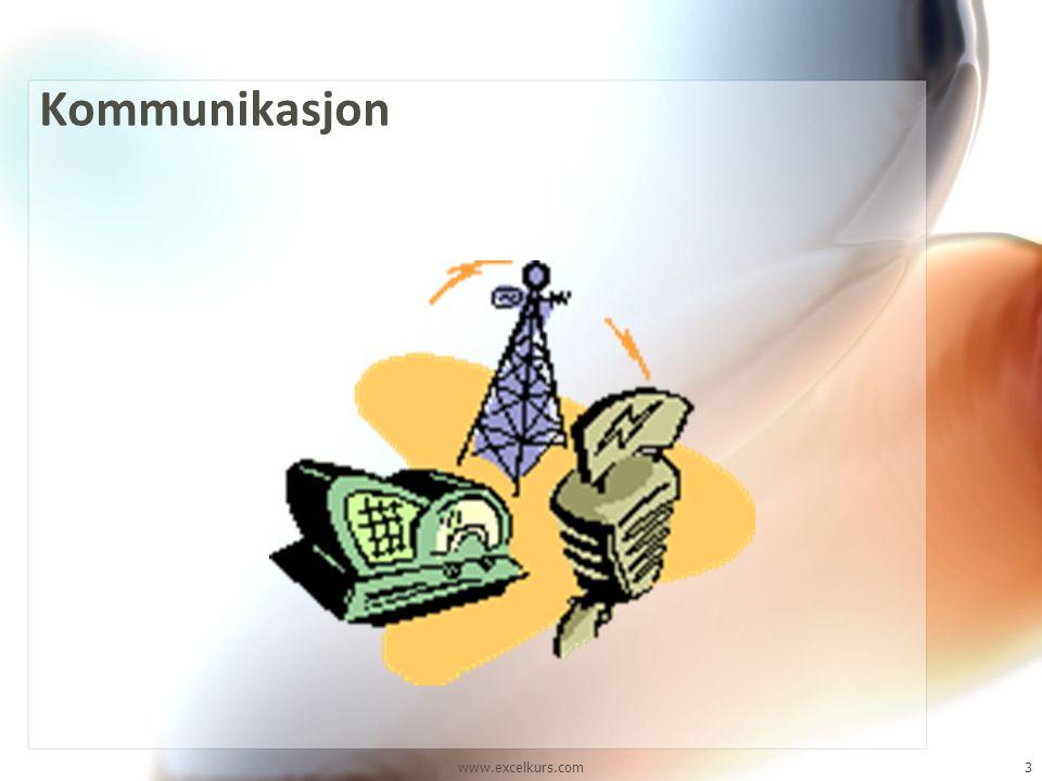 www.excelkurs.com3 Kommunikasjon