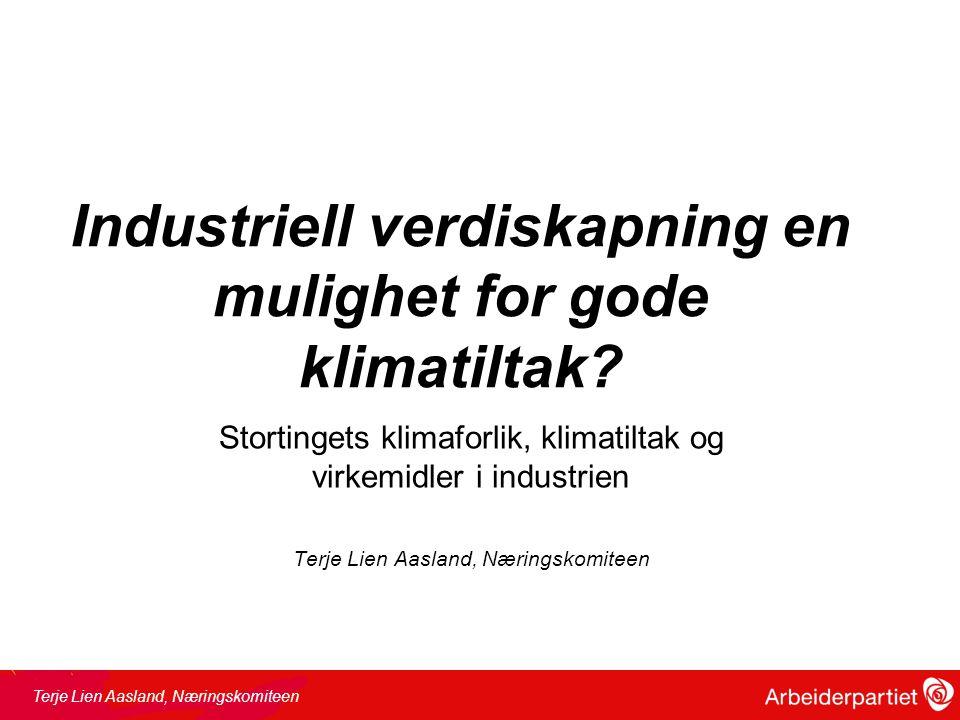 Virkemidlene •Gjennomgang av virkemidlene –Innovasjon Norge –SIVA –Investinor –GIEK –Eksportfinans –ENOVA •Forskningsmidlene hvordan innrettes disse mot klima.