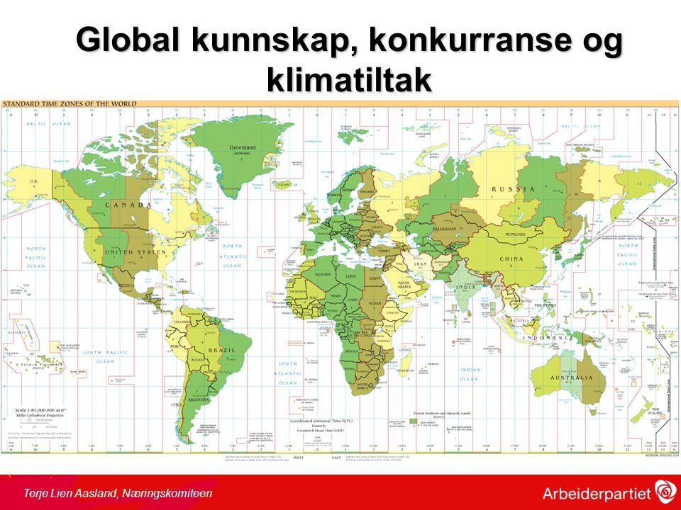 Global kunnskap, konkurranse og klimatiltak Terje Lien Aasland, Næringskomiteen