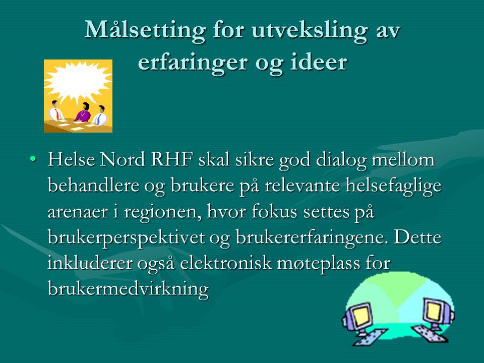 Målsetting i forhold til språk og kultur •Det er viktig å ivareta samiske brukeres behov for gode helsetjenester.