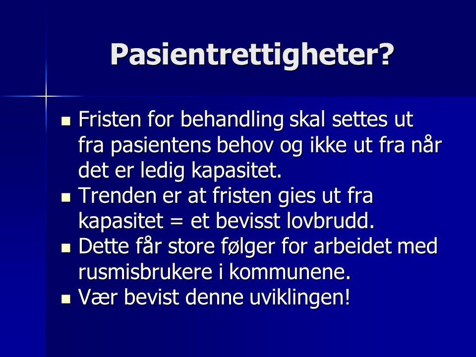 Pasientrettigheter?  Mens pasientrettighetsloven brytes i 60 prosent av tilfellene i Helse Nord, har Helse Sør ikke registrert noen slik brudd på fri