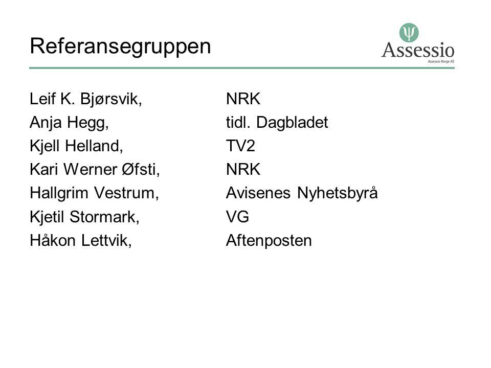 Referansegruppen Leif K.Bjørsvik, NRK Anja Hegg, tidl.