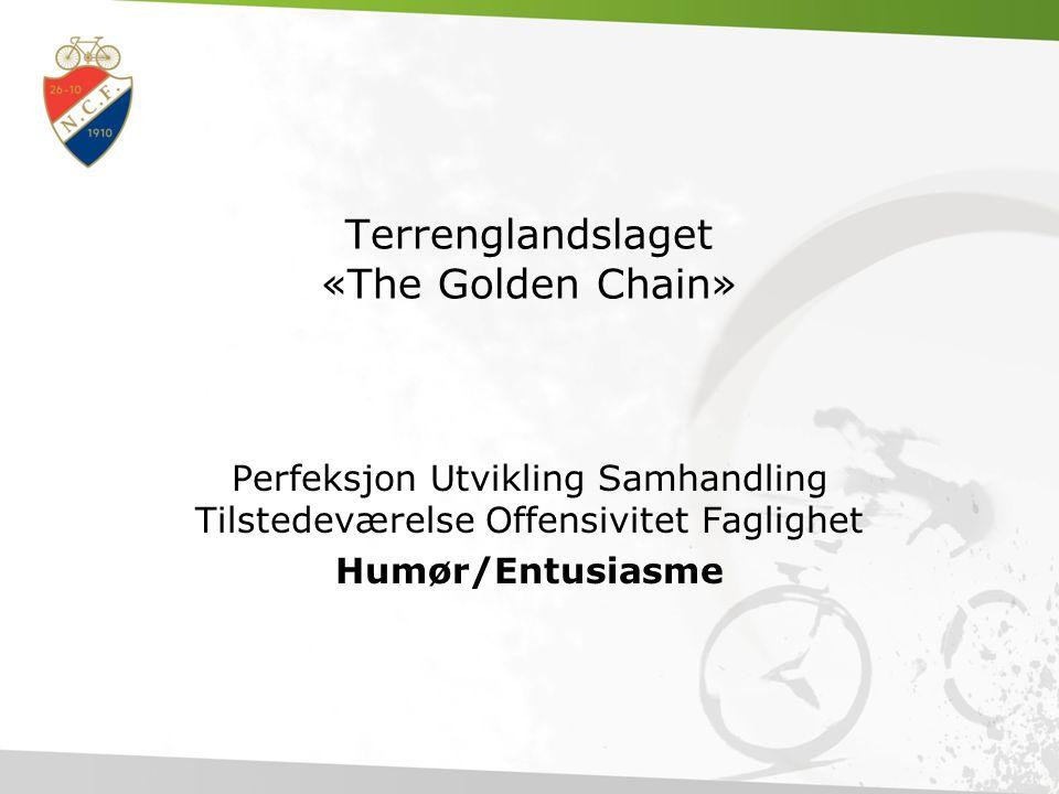 Terrenglandslaget «The Golden Chain» Perfeksjon Utvikling Samhandling Tilstedeværelse Offensivitet Faglighet Humør/Entusiasme