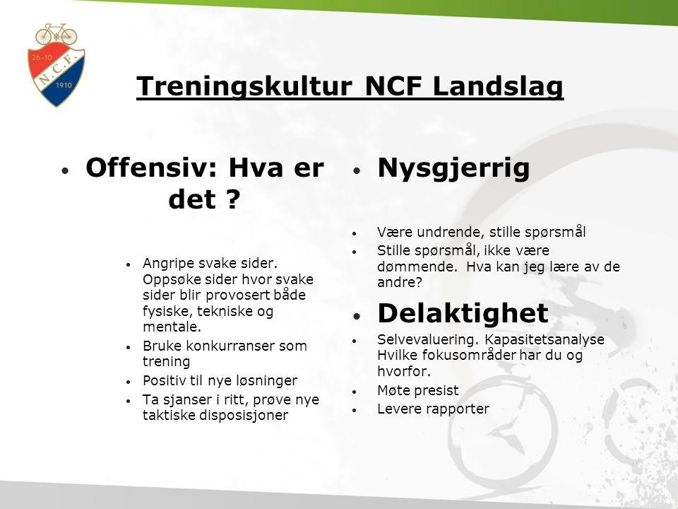 Treningskultur NCF Landslag • Offensiv: Hva er det .