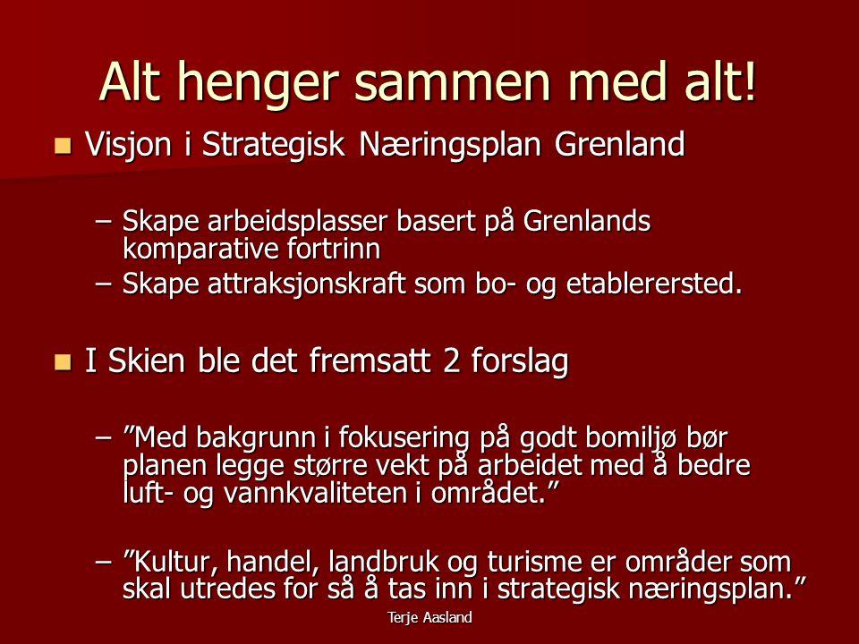 Terje Aasland Alt henger sammen med alt.