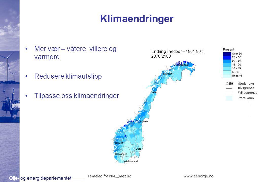 Olje- og energidepartementet www.oed.dep.no Skredfare i Norge •Norge er skredutsatt •Skred er en naturfare vi må forholde oss til •Vi ønsker å gjøre det tryggere der folk bor og ferdes Kart: NGU