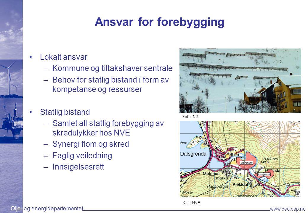 Olje- og energidepartementet www.oed.dep.no Hvordan kan NVE hjelpe kommunene.