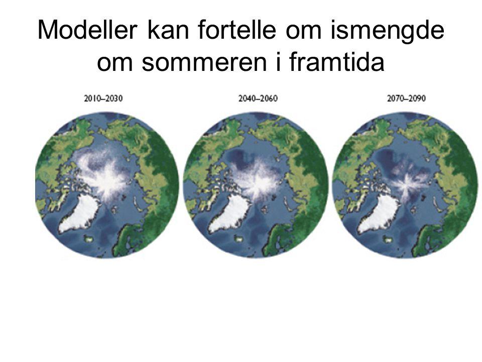 Modeller kan fortelle om ismengde om sommeren i framtida