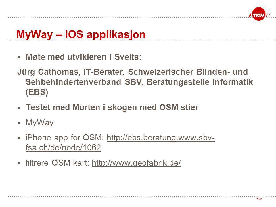  Møte med utvikleren i Sveits: Jürg Cathomas, IT-Berater, Schweizerischer Blinden- und Sehbehindertenverband SBV, Beratungsstelle Informatik (EBS) 