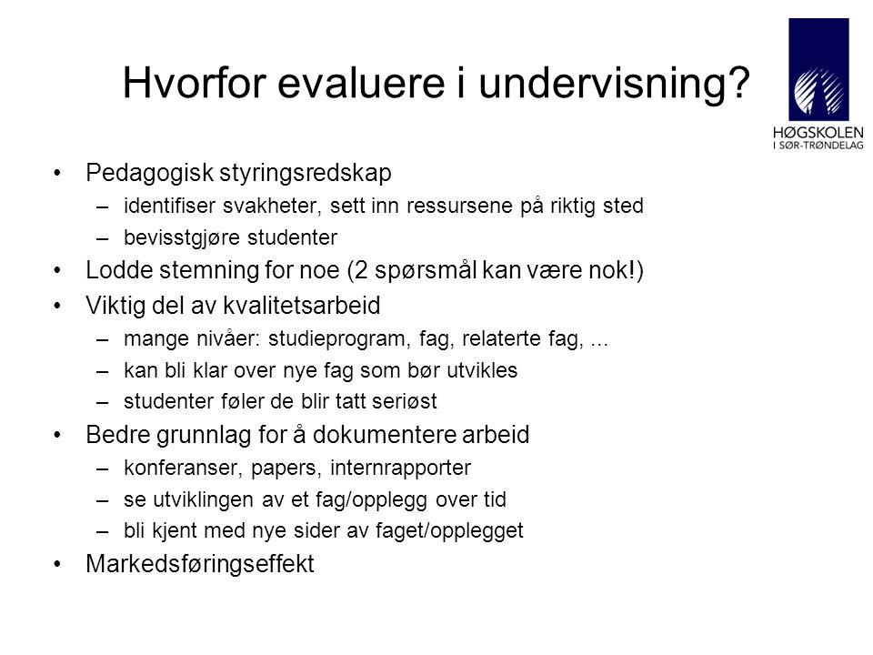 Hvorfor evaluere i undervisning.