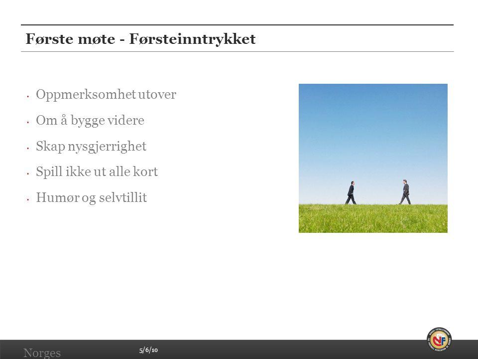 5/6/10 Norges Fotballforbund | www.fotball.no Første møte - Førsteinntrykket • Oppmerksomhet utover • Om å bygge videre • Skap nysgjerrighet • Spill i