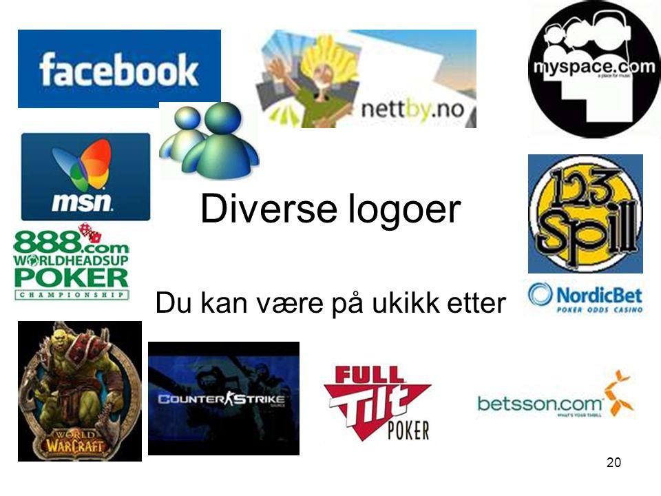 20 Diverse logoer Du kan være på ukikk etter