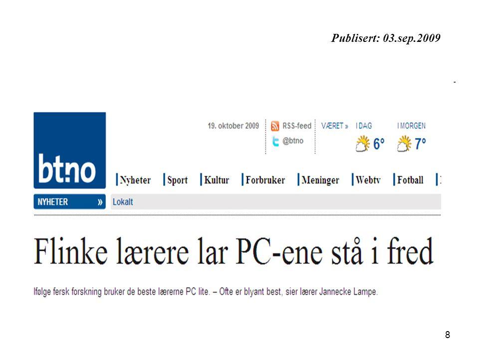 8 Publisert: 03.sep.2009
