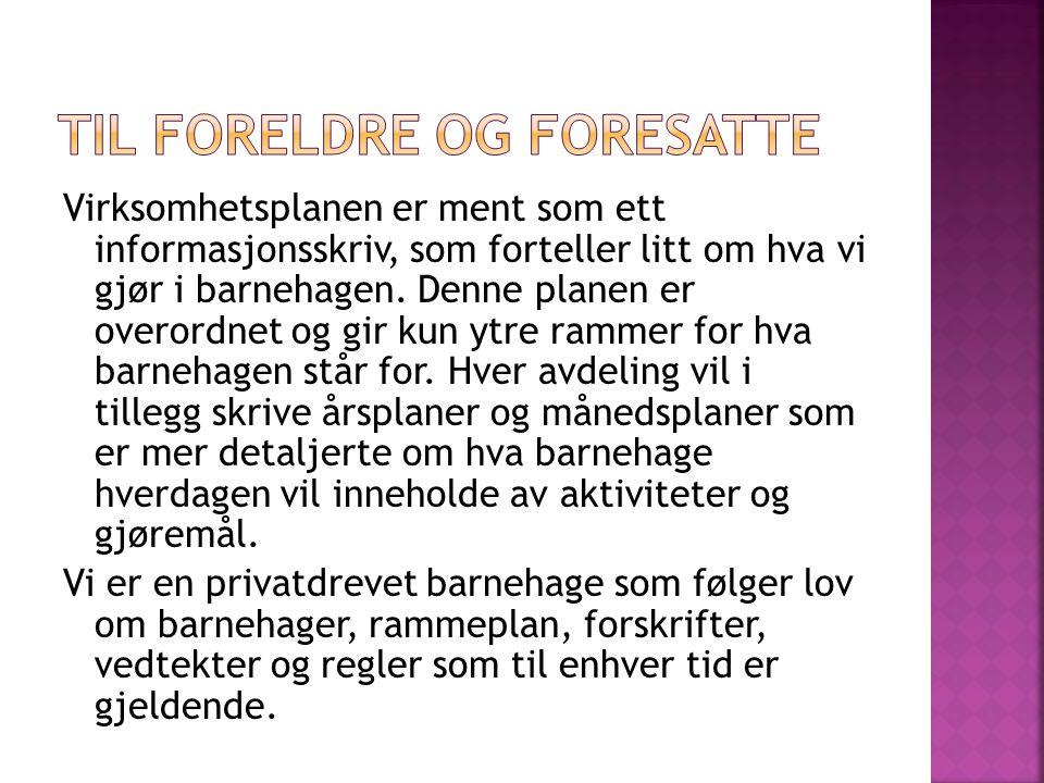  Ramsjø Gårdsbarnehage består av 4 avdelinger: Avdeling Geitene 2-5 år Avdeling Kattungene 3-5 år Avdeling Kyllingene 1-3 år Avdeling Minigrisene 0-2 år  Åpningstiden i barnehagen er 6.30-16.30  Vi har 5 planleggingsdager i året.