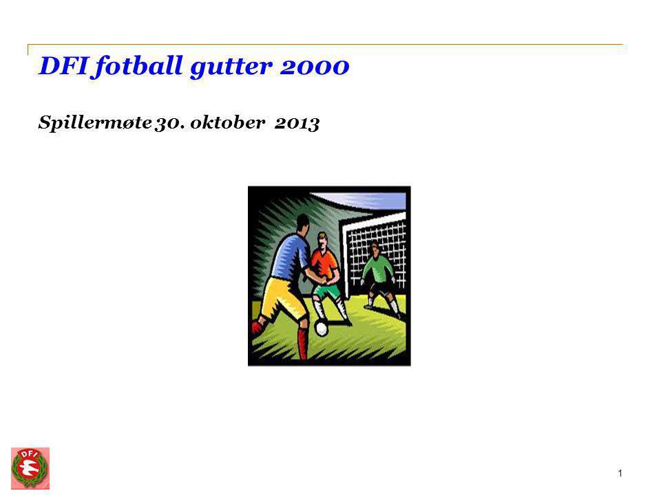 Agenda 2 • Velkommen • Våre mål • Lagsmodell • Treningsmodell • Spilleren - holdninger og forventninger • Treneren - holdninger og forventninger • Kjøreregler for DFI fotball gutter 2000 • Hospitering 99/sonetrening/kretslag (Thomas) • Eventuelt • Fotballquiz og forfriskninger
