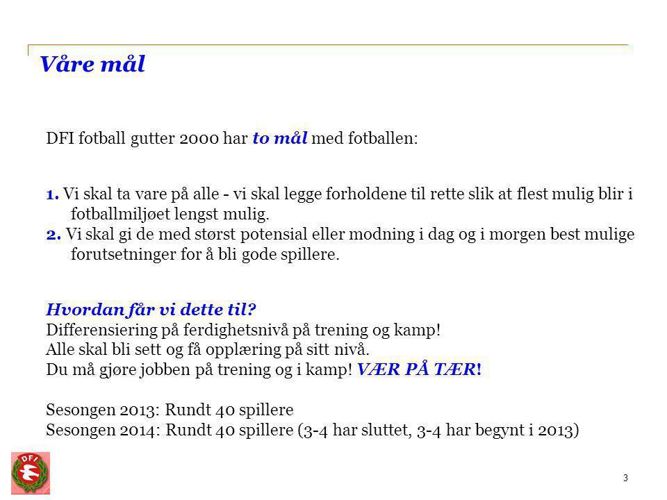 Lagsmodell Nivå 1 (11'er)- KM 15 spillere Nivå 2 (11'er) 15 spillere Nivå 3 (7'er) 10 spillere Uttak til KM baseres på: 1.