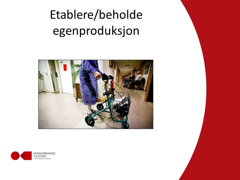 Etablere/beholde egenproduksjon