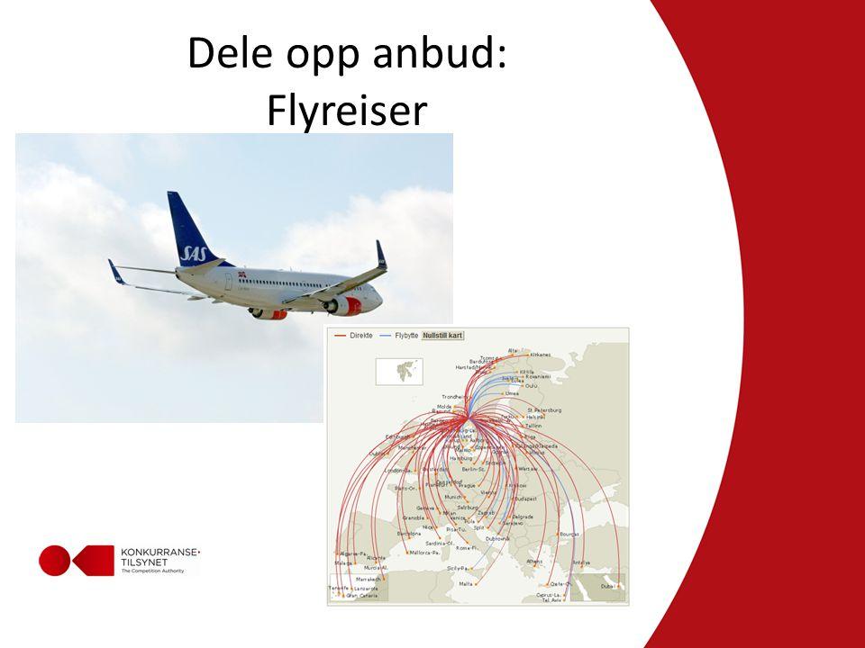 Dele opp anbud: Flyreiser