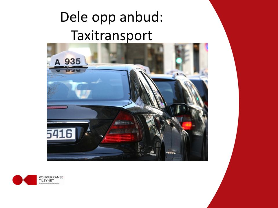 Dele opp anbud: Taxitransport