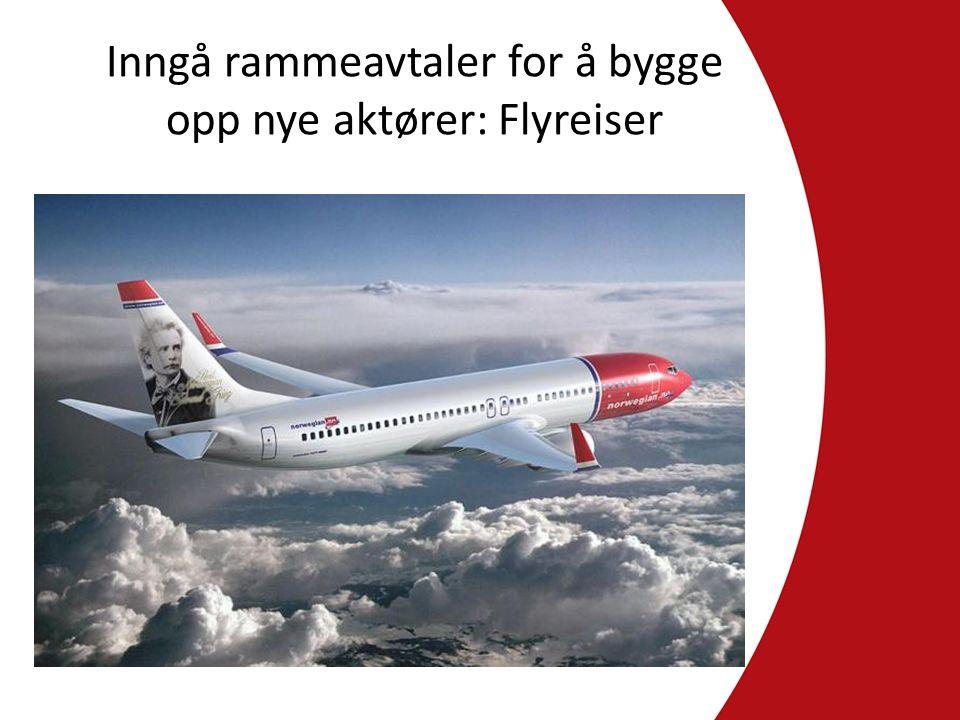 Inngå rammeavtaler for å bygge opp nye aktører: Flyreiser