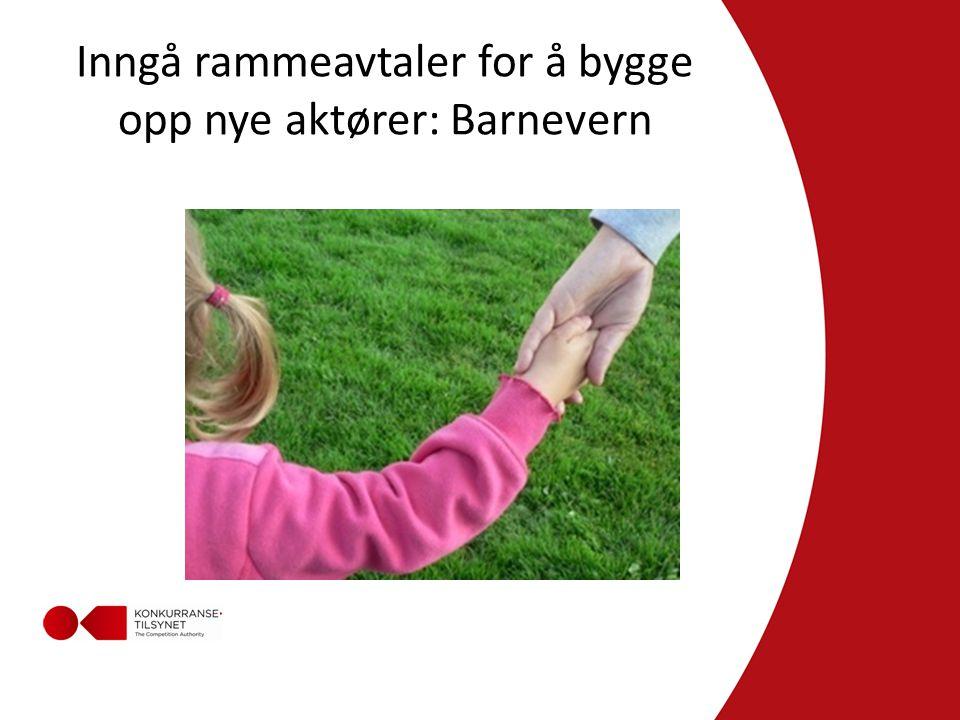 Inngå rammeavtaler for å bygge opp nye aktører: Barnevern
