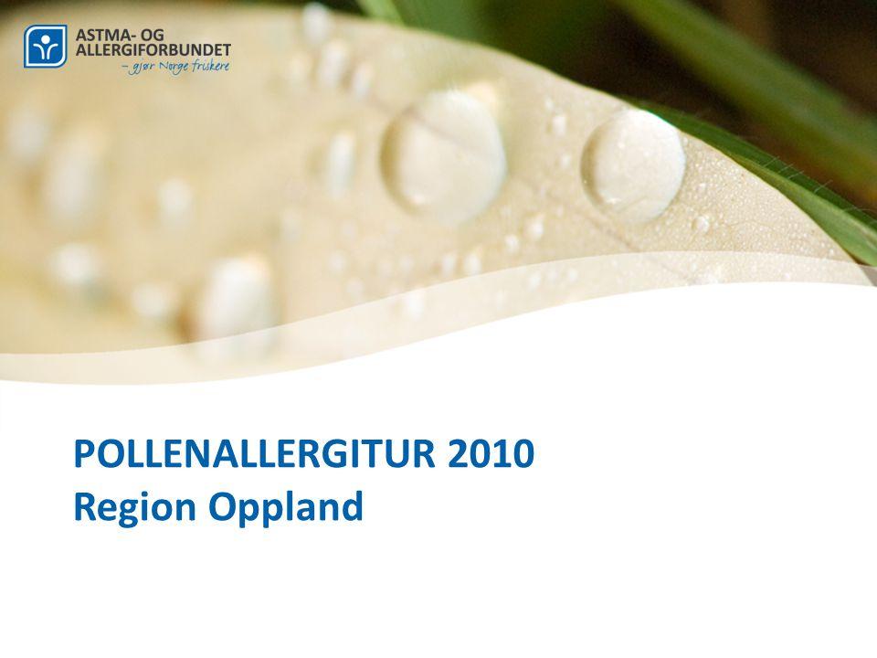 POLLENALLERGITUR 2010 Region Oppland