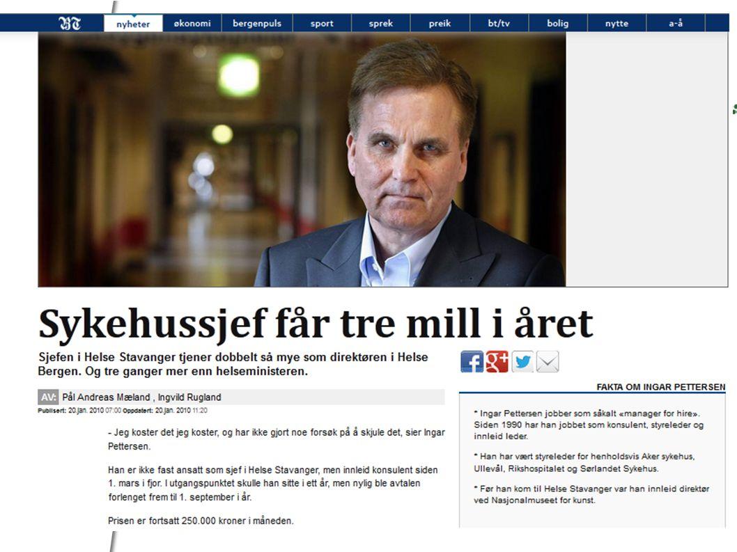 Flere eksempler •PWC og barnehagene (Tønsberg, Oslo, Tromsø, Flora) •Deloitte evaluerer Besiller-utførermodeller for KS •Statens landbruksforvaltning