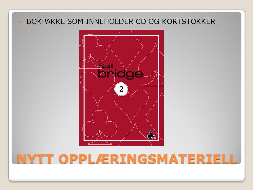 NYTT OPPLÆRINGSMATERIELL  BOKPAKKE SOM INNEHOLDER CD OG KORTSTOKKER