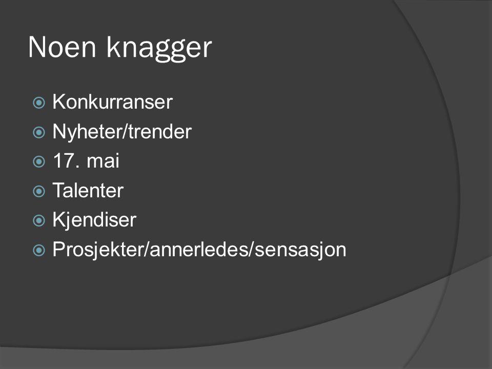 Noen knagger  Konkurranser  Nyheter/trender  17.