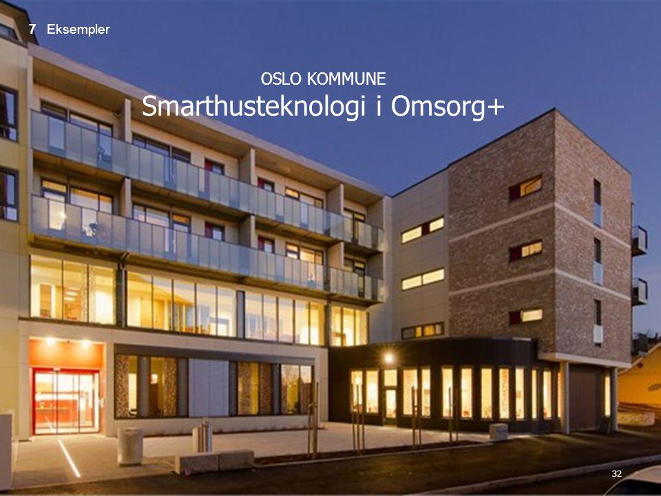 32 OSLO KOMMUNE Smarthusteknologi i Omsorg+ 7 Eksempler