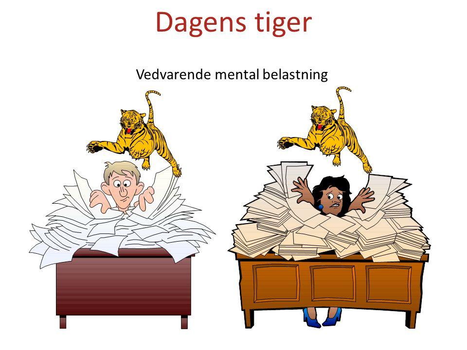 Vedvarende mental belastning Dagens tiger