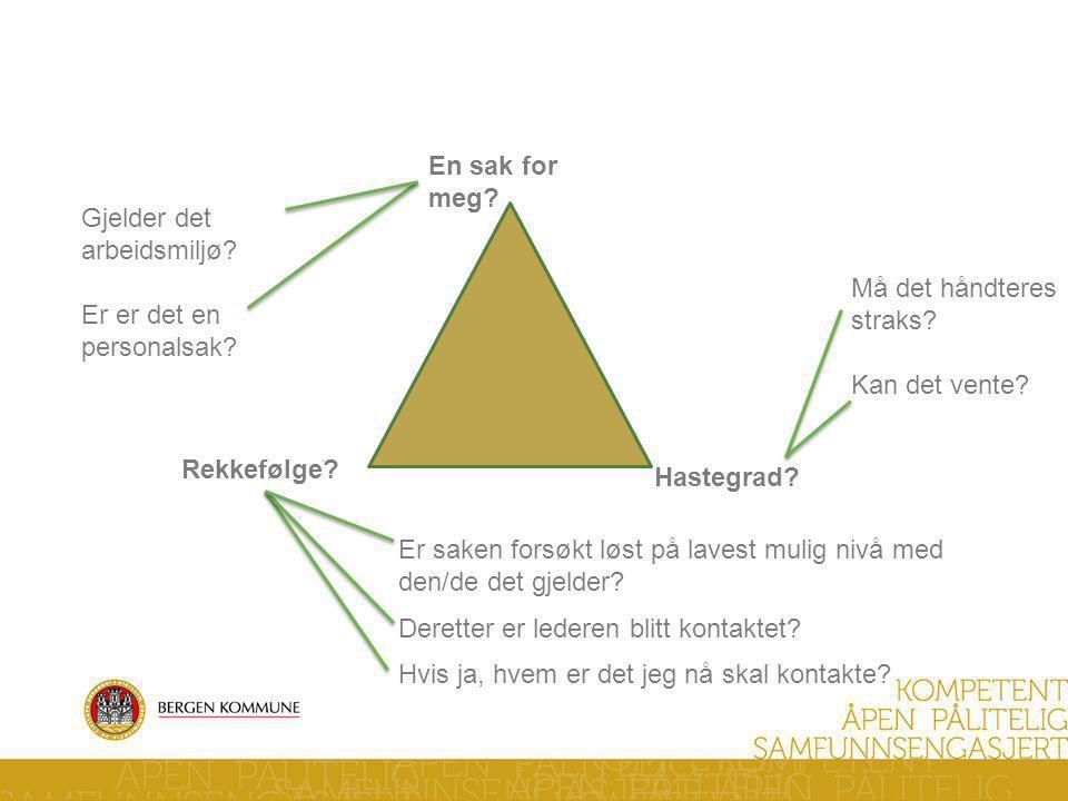 Verneombuds trekant -Huskeregel- En sak for meg.Rekkefølge.