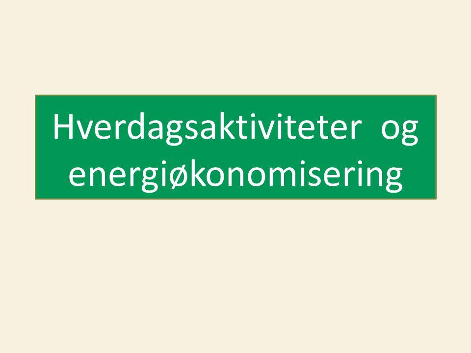 Hverdagsaktiviteter og energiøkonomisering