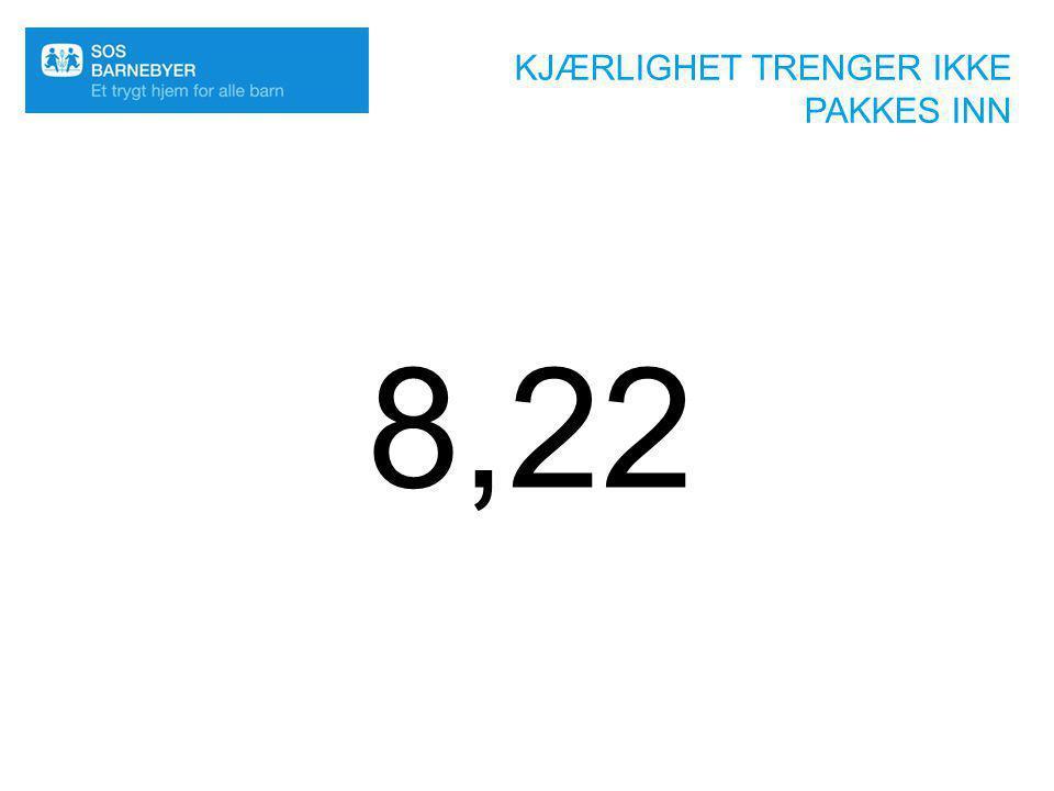 KJÆRLIGHET TRENGER IKKE PAKKES INN 8,22