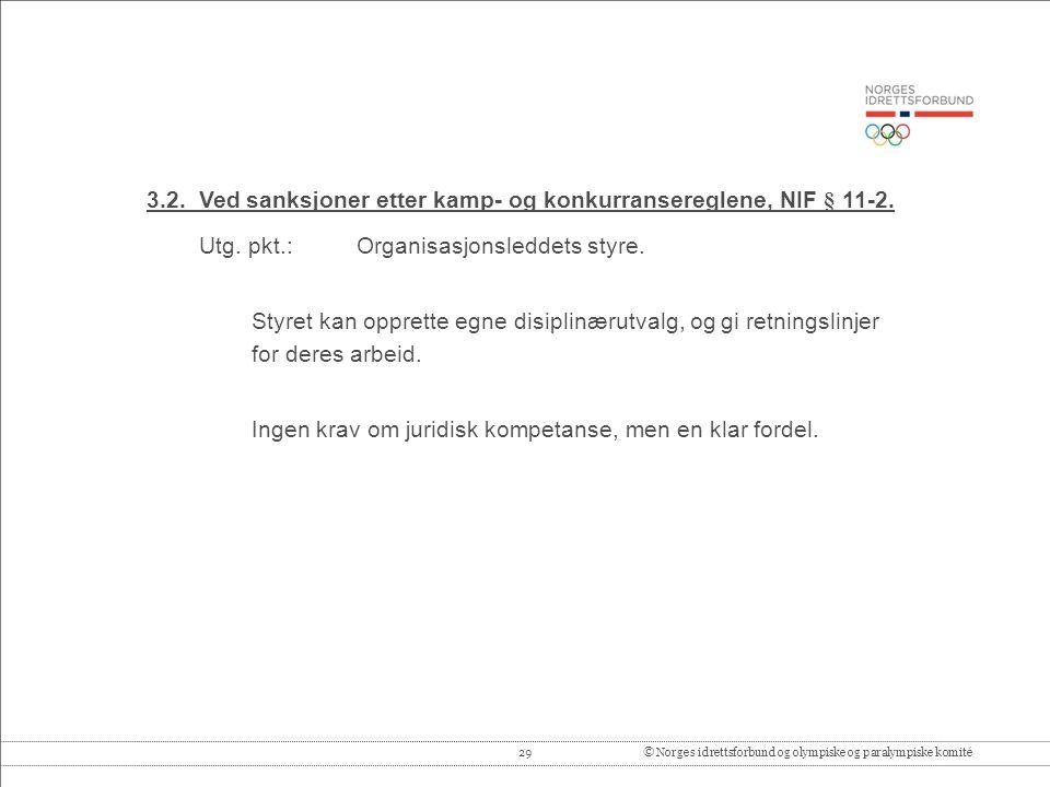 29© Norges idrettsforbund og olympiske og paralympiske komité 3.2.