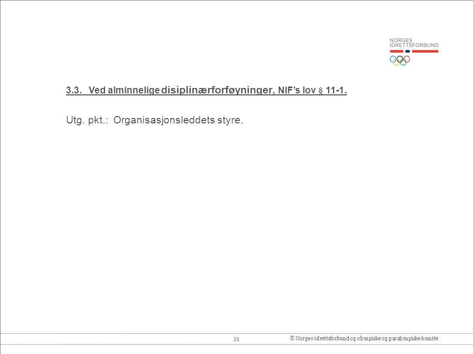 35© Norges idrettsforbund og olympiske og paralympiske komité 3.3.