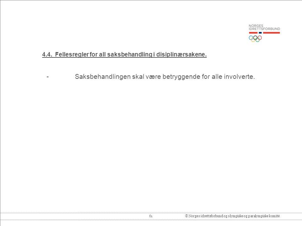 61© Norges idrettsforbund og olympiske og paralympiske komité 4.4.