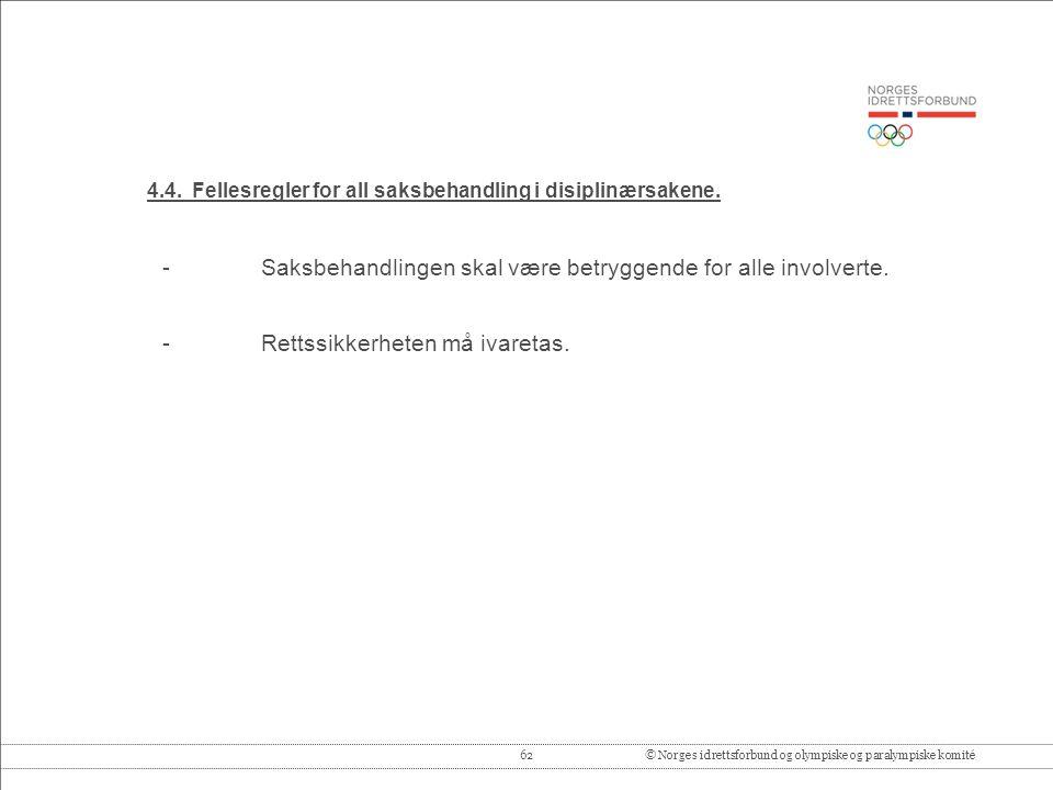 62© Norges idrettsforbund og olympiske og paralympiske komité 4.4.