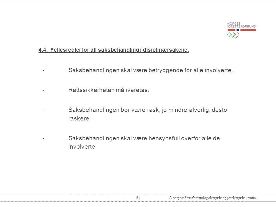 64© Norges idrettsforbund og olympiske og paralympiske komité 4.4.