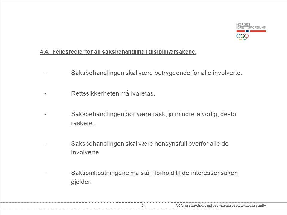 65© Norges idrettsforbund og olympiske og paralympiske komité 4.4.