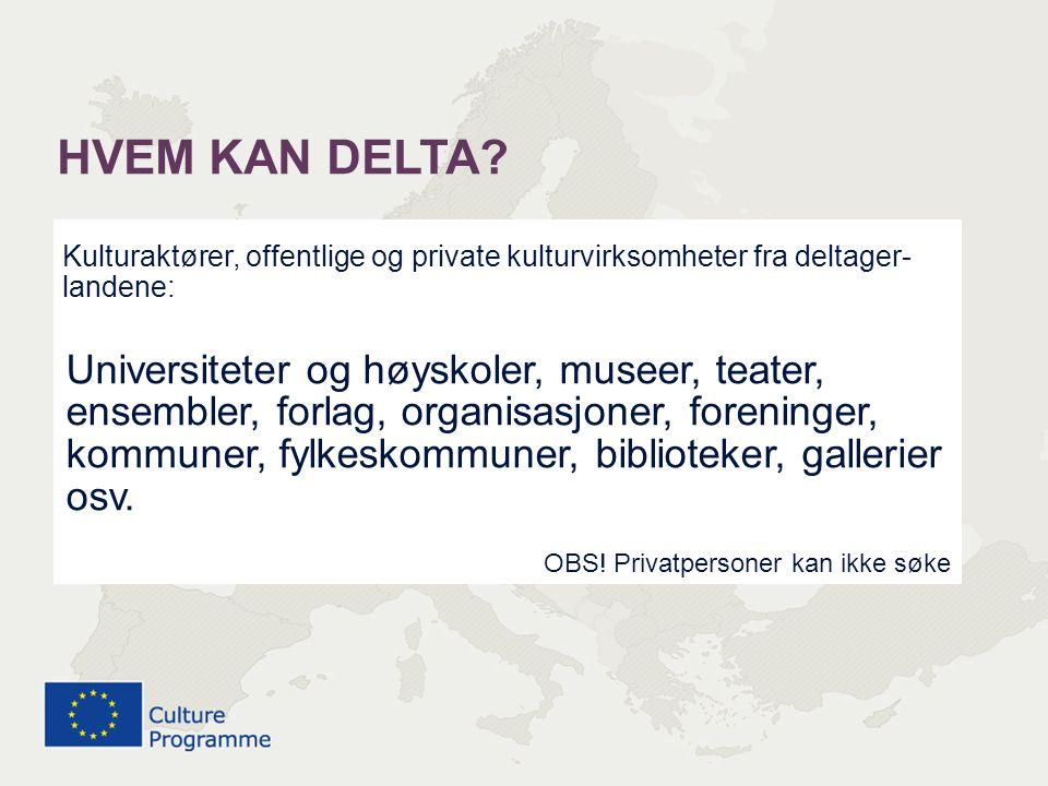 FLERÅRIGE PROSJEKTER (3-5 år) frist 7.nov SAMARBEIDSTILTAK (inntil 2 år) frist 7.